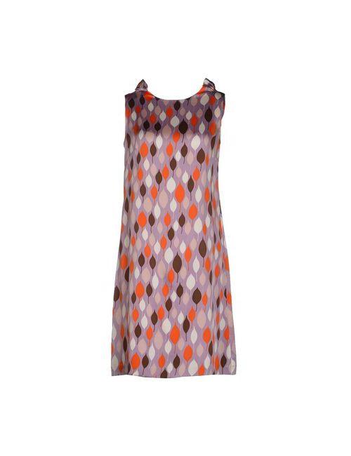 Siyu | Женское Фиолетовое Платье До Колена