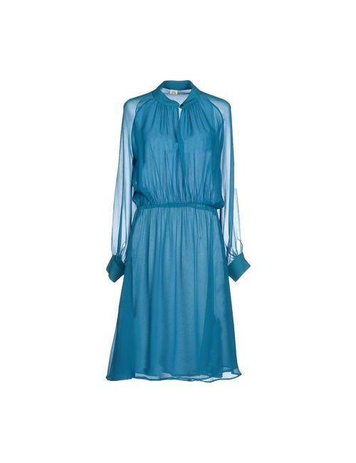 Siyu | Женское Цвет Морской Волны Платье До Колена