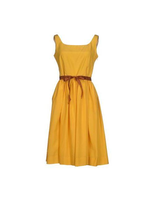 Siyu | Женское Жёлтое Короткое Платье