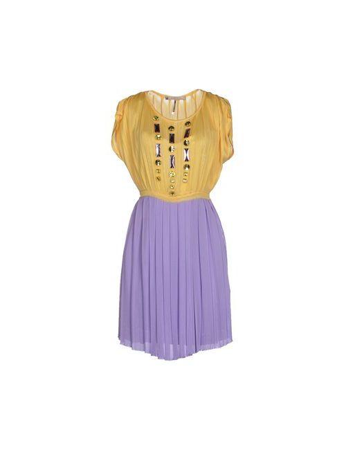Annarita N. | Женское Жёлтое Короткое Платье