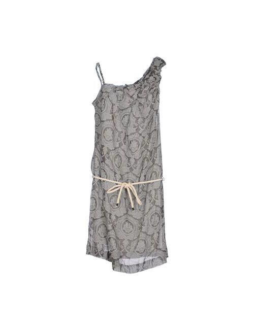 Gold Case | Женское Серое Платье До Колена