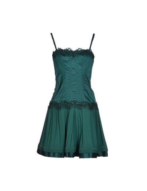 X'S Milano | Женское Зелёное Короткое Платье