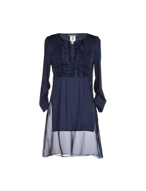Pinko Grey | Женское Синее Короткое Платье