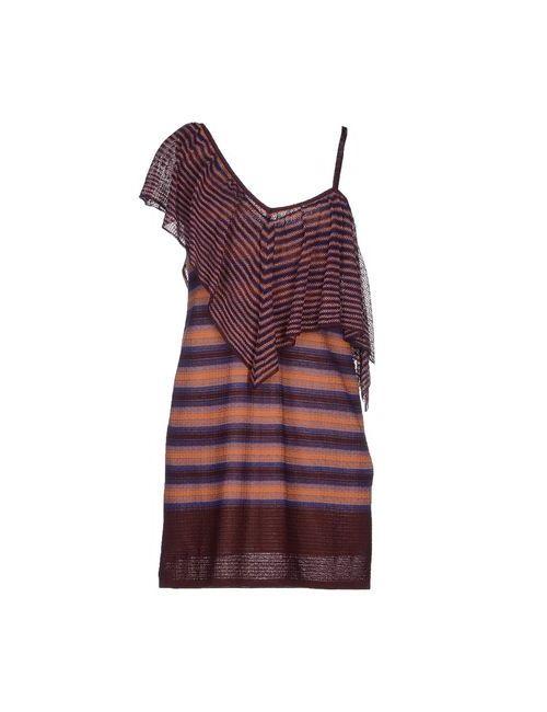 Missoni | Женское Баклажанное Короткое Платье