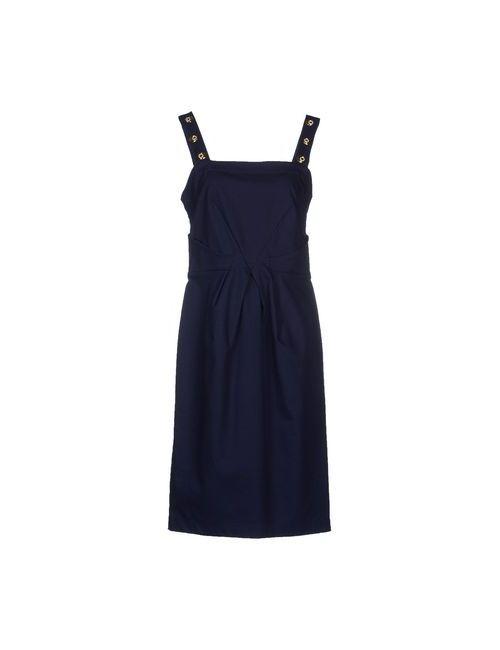 Angelo Marani   Женское Синее Платье До Колена
