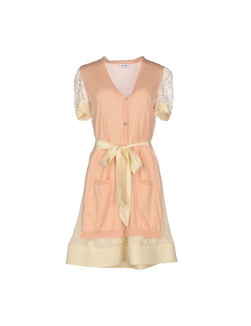 Moschino | Женское Телесное Короткое Платье