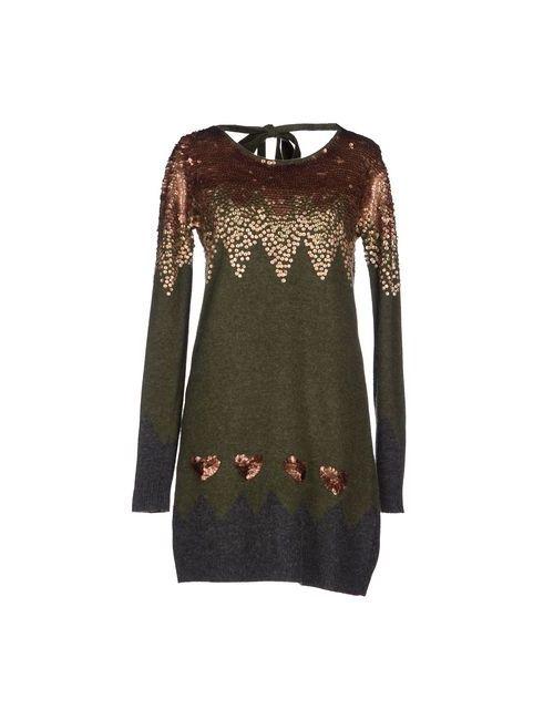 Twin-Set Simona Barbieri | Женское Зелёное Короткое Платье