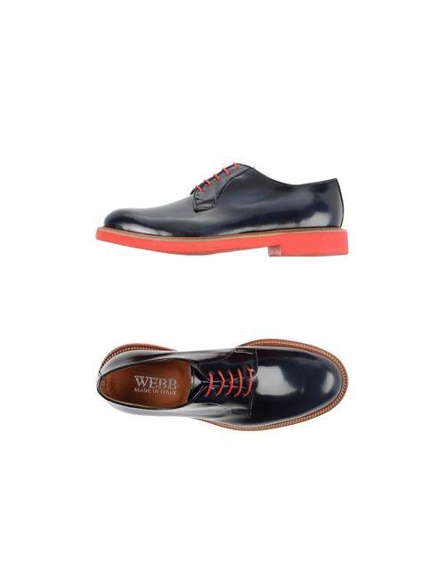 Webb | Мужская Синяя Обувь На Шнурках