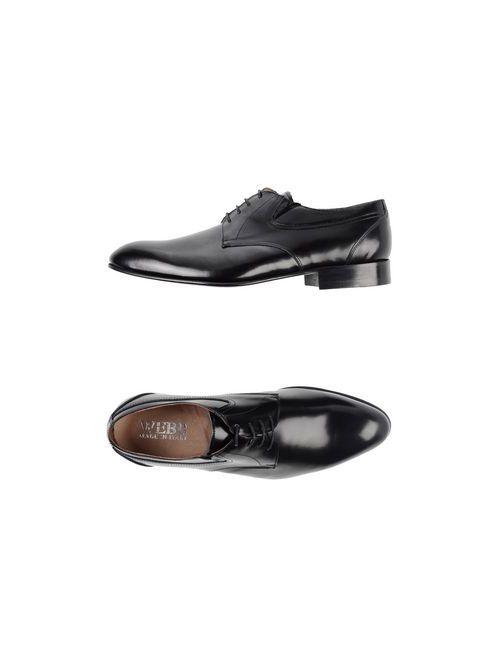 Webb   Мужская Чёрная Обувь На Шнурках