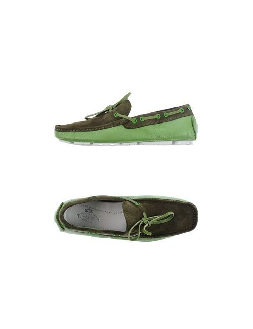 Thompson | Мужские Зелёные Мокасины