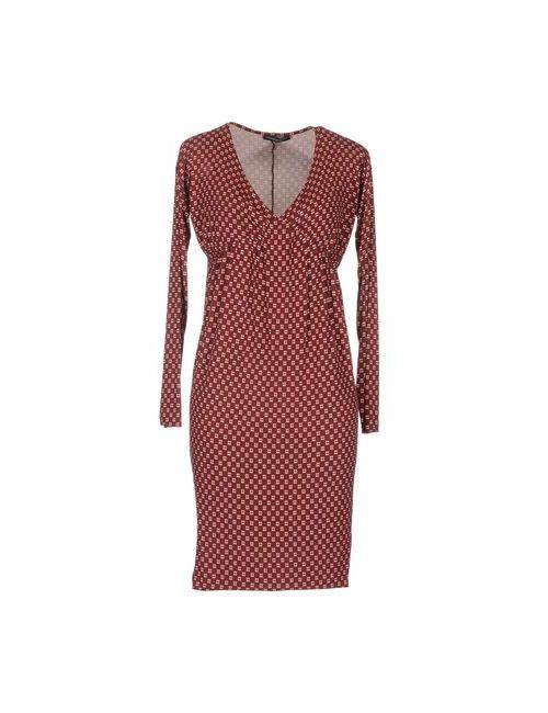 Andrea Morando | Женское Коричневое Короткое Платье
