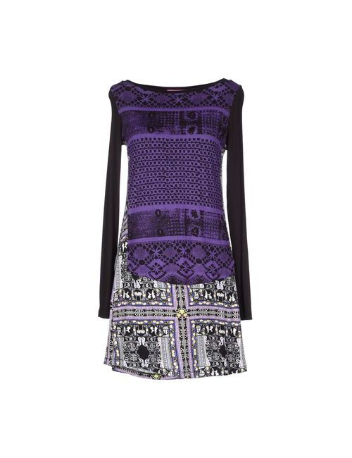 Custoline | Женское Фиолетовое Короткое Платье
