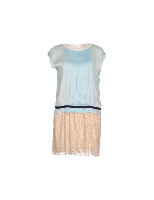 Suoli | Женское Голубое Короткое Платье