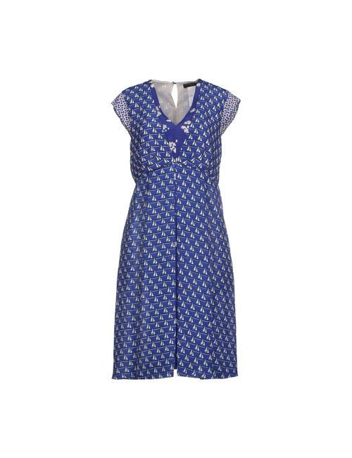 Weekend Max Mara | Женское Синее Платье До Колена