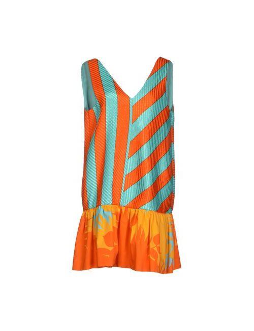 MSGM | Женское Бирюзовое Короткое Платье