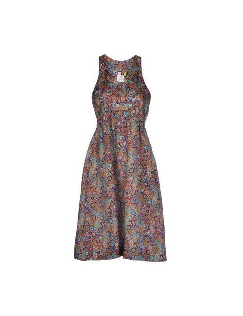 MSGM | Женское Коралловое Платье До Колена