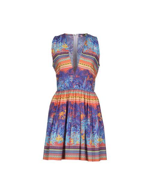 MSGM | Женское Синее Короткое Платье