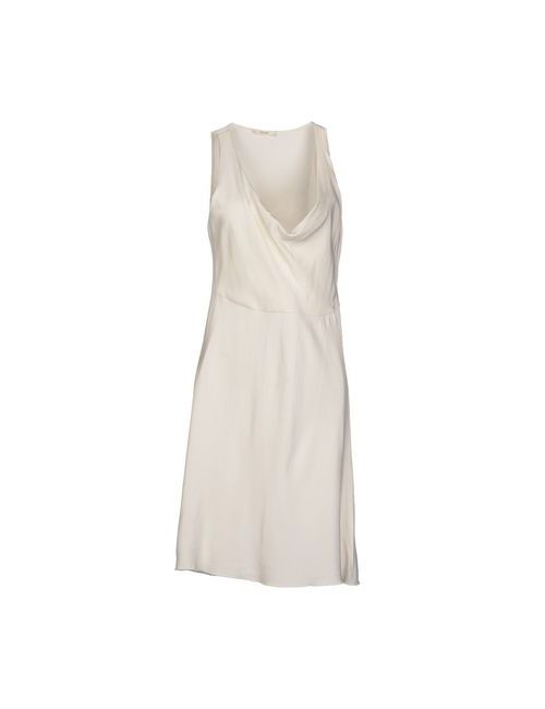 Céline | Женское Слоновая Костящее Платье До Колена