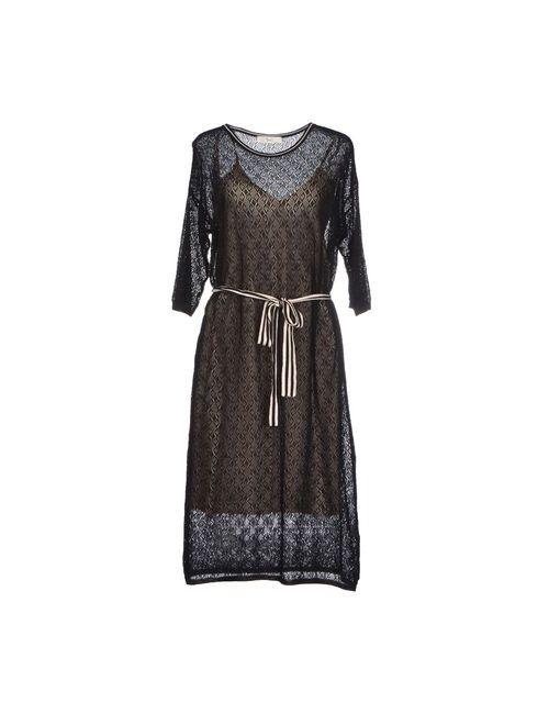 Suoli   Женское Черный Платье До Колена