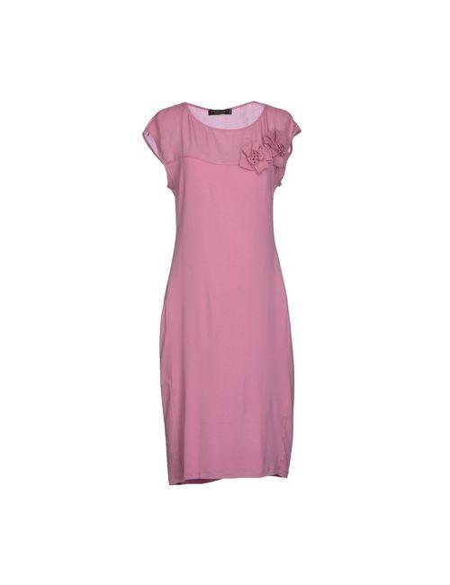 Twin-Set Simona Barbieri   Женское Розовое Платье До Колена
