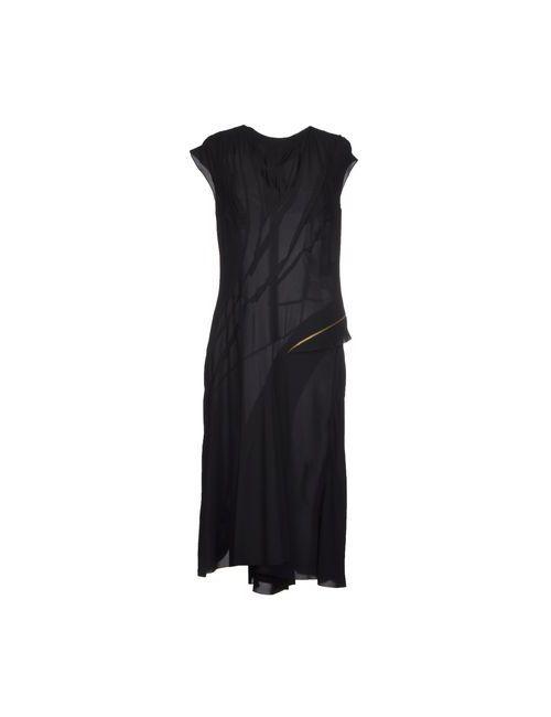Nina Ricci | Женское Чёрное Платье До Колена