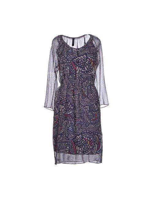 Marc Cain | Женское Фиолетовое Короткое Платье