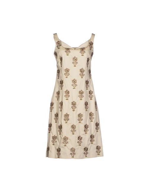 Niza | Женское Бежевое Короткое Платье