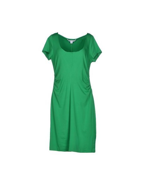 Diane Von Furstenberg | Женское Зелёное Платье До Колена