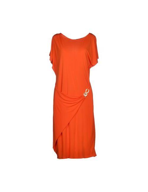 Who*S Who   Женское Оранжевое Платье До Колена