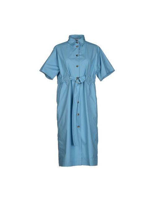 Céline | Женское Синее Платье До Колена