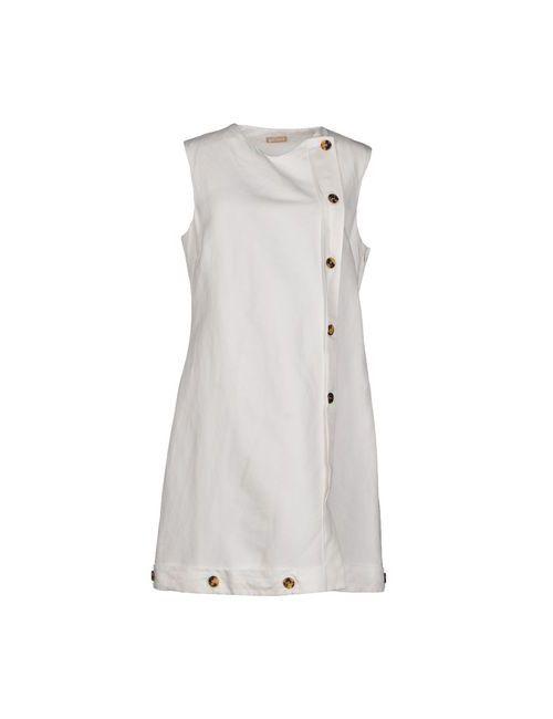 Galliano | Женское Белое Короткое Платье