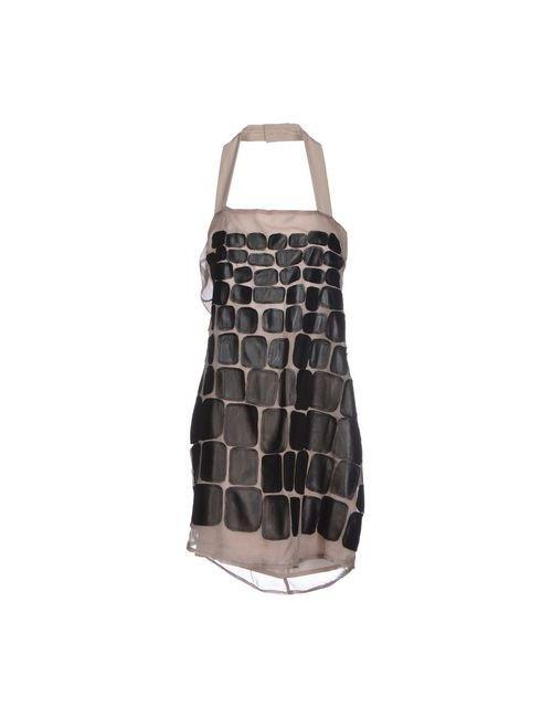 Malloni | Женское Серое Короткое Платье