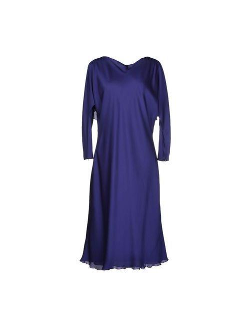 Giorgio Armani | Женское Фиолетовое Платье До Колена