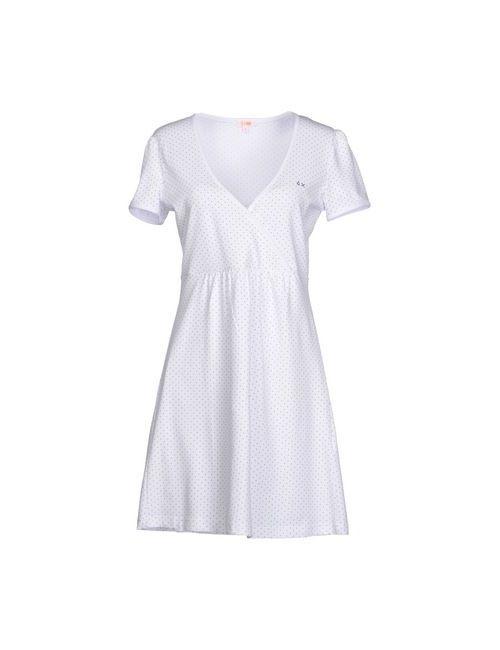 Sun 68 | Женское Белое Короткое Платье