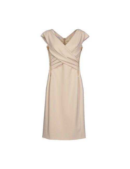 Moschino | Женское Бежевое Короткое Платье