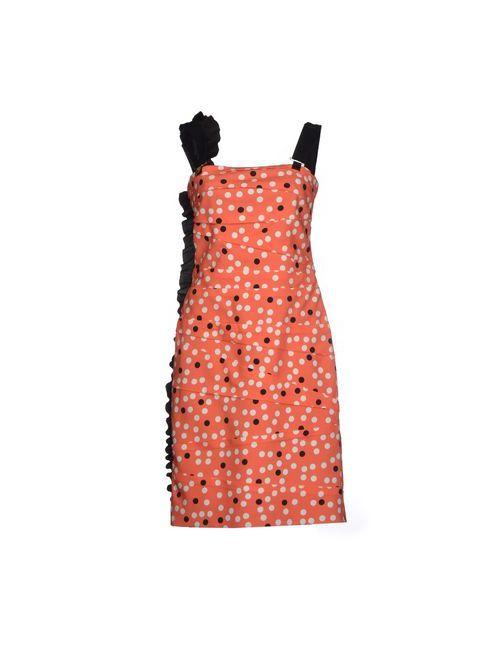 Emanuel Ungaro | Женское Коралловое Короткое Платье