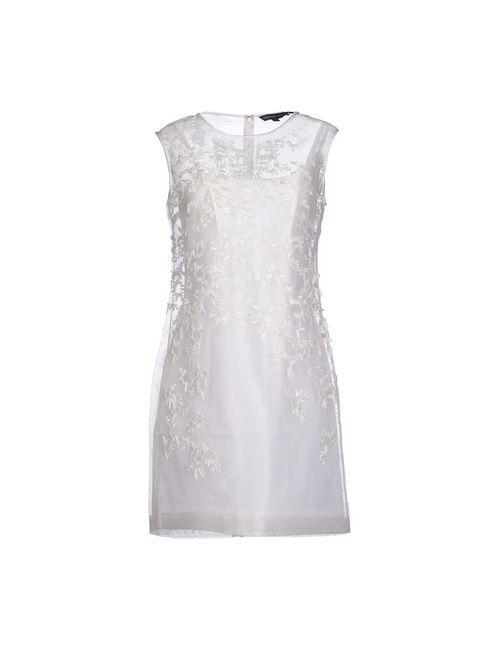 French Connection   Женское Белое Короткое Платье