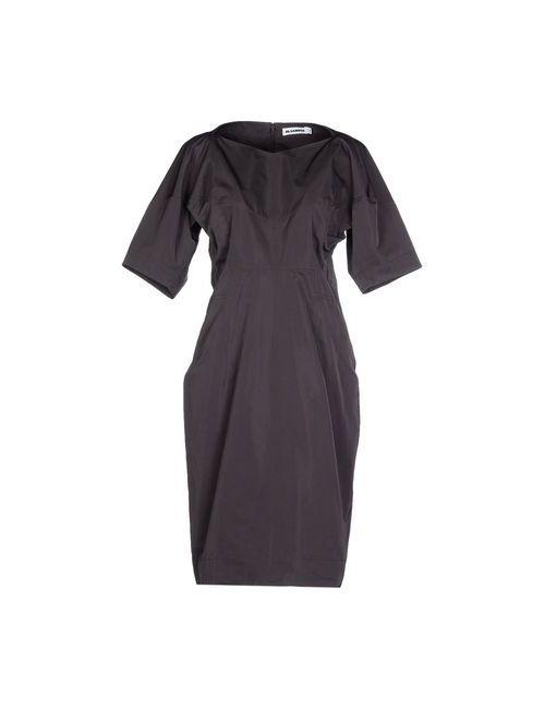 Jil Sander | Женское Серое Платье До Колена