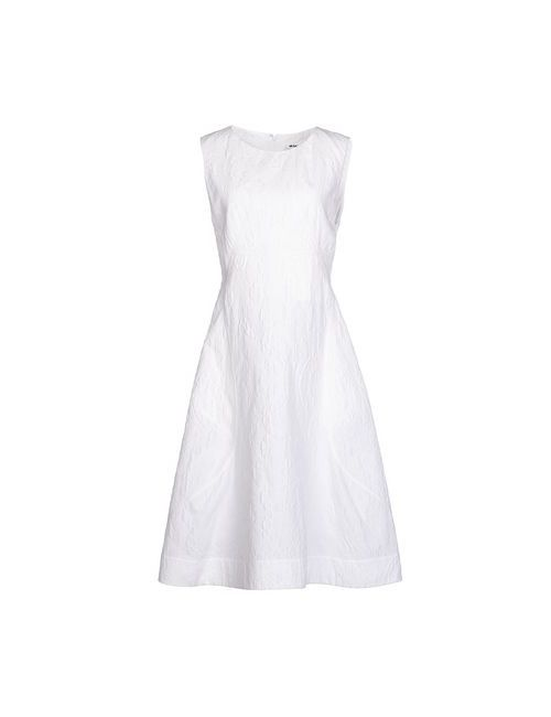 Jil Sander   Женское Белое Платье До Колена