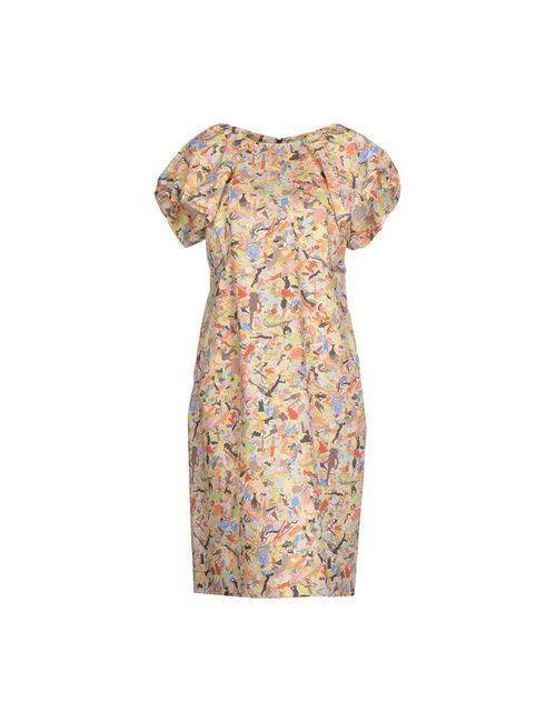 Jil Sander | Женское Жёлтое Платье До Колена