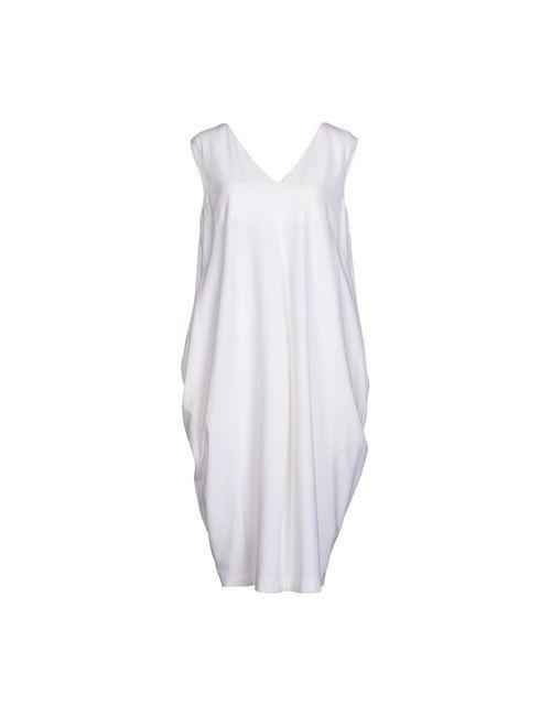 Jil Sander | Женское Белое Платье До Колена