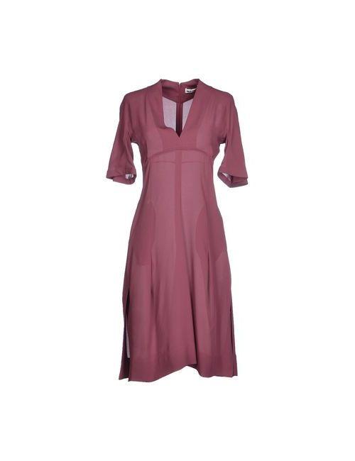 Jil Sander | Женское Розовато-Лиловое Короткое Платье