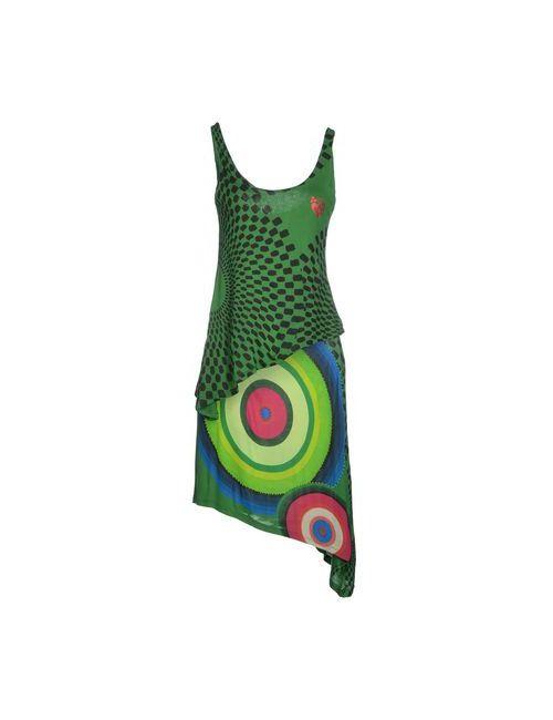 Desigual   Женское Зелёное Платье До Колена