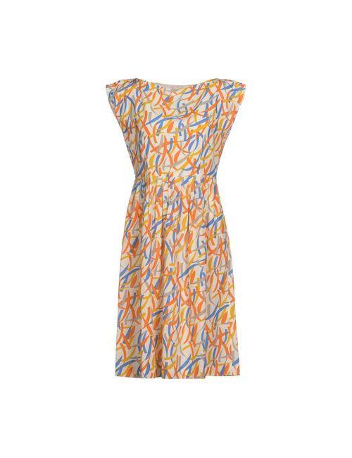 Siyu | Женское Слоновая Костящее Платье До Колена
