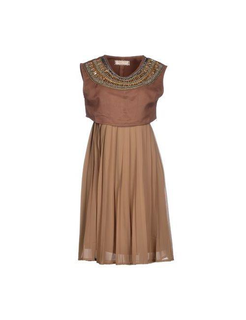 Giorgia  & Johns | Женское Коричневое Короткое Платье