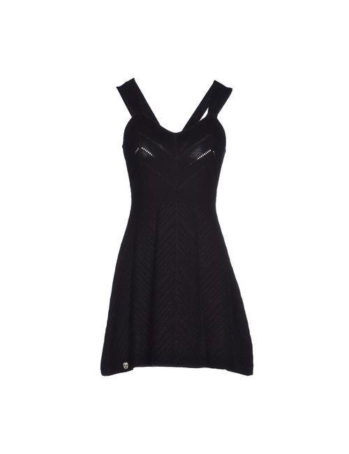 Philipp Plein Couture | Женское Чёрное Короткое Платье