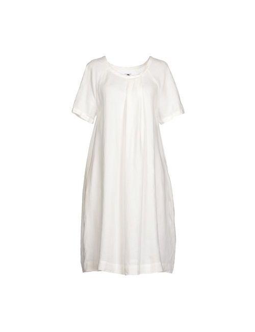 Bagutta | Женское Белое Платье До Колена