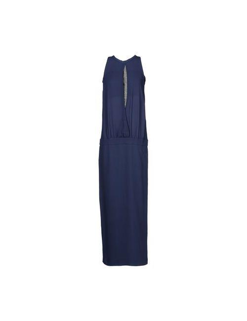 Brunello Cucinelli | Женское Синее Длинное Платье