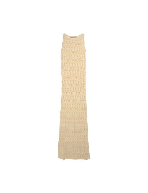 Vicedomini | Женское Бежевое Длинное Платье