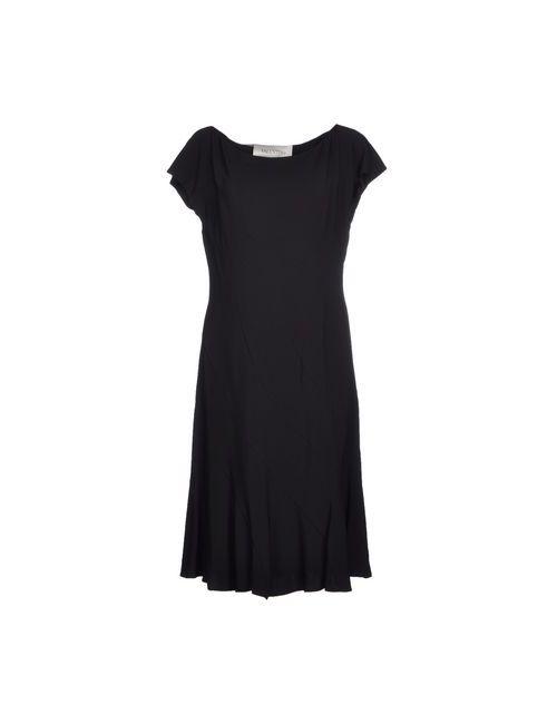 Valentino | Женское Чёрное Платье До Колена